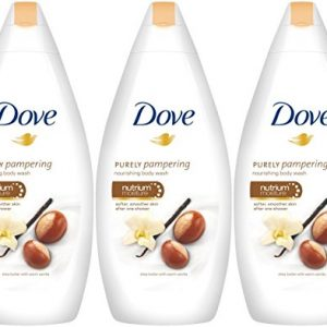 0e3eb964a8e0 300x300 - Dove Purely Pampering Body Wash, Shea Butter with Warm Vanilla, 16.9 Ounce / 500 Ml (Pack of 3)