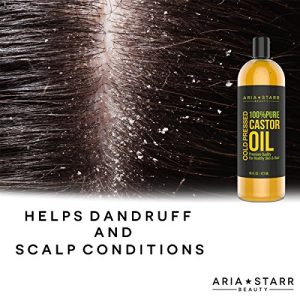 10eaa63327bc 300x300 - Aria Starr Castor Oil Cold Pressed – 16 FL OZ – BEST 100% Pure Hair Oil For Hair Growth, Face, Skin Moisturizer, Scalp, Thicker Eyebrows And Eyelashes