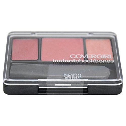 CoverGirl Instant Cheekbones Contouring Blush Purely Plum 220, 0.29 Ounce Pan