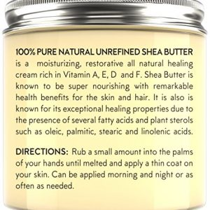 2cbed695fb4c 300x300 - PURE Shea Butter by Buena Skin | Organic, Raw, Unrefined, Cold-Pressed - Great To Use Alone or DIY Body Butters, Lotions, Soaps, Eczema & Stretch Mark Products, From Ghana - 8 oz