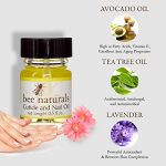 Best All Natural Cuticle Oil – Bee Naturals Nail Oil Helps Cracked Nails and Rigid Cuticles – Perfect Vitamin E Enriched Treatment for Moisture, Softness & Health – Anti-Fungal Tea Tree Essential Oils