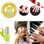 Emosa Nail Polish – Non-Toxic Water Based Peelable Natural, Safe and Chemical Free , Kids Friendly Makeup Set for Little Girls (6 Bright Colors Kit with 1 Top Coat)