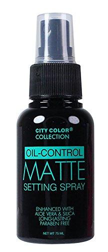 City Color Oil Control Face Matte Setting Spray, Fresh Rose Scent, 2.54 Fluid Ounce