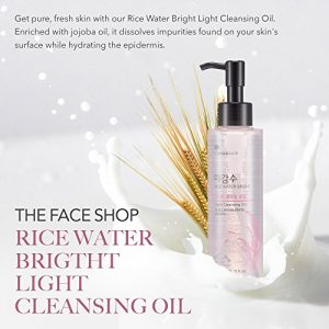 427296fc6244 300x300 - The Face Shop Facial Cleanser, Natural Rice Water Light Cleansing Oil Moisturizer for Dry or Oily Skin - 150 mL /5 Oz