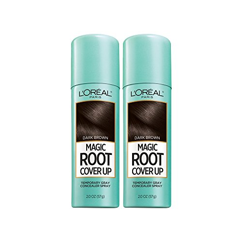 L'Oreal Paris Root Cover Up Temporary Gray Concealer Spray, Dark Brown 2 oz (Pack of 2) (Packaging May Vary)