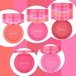 Ucanbe Waterproof 5 Colors Blusher Palette With Blush Brush