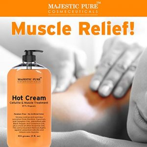 5abcf9d63ced 300x300 - Majestic Pure Anti Cellulite Cream, 87% Organic Fat Burner Cream, Tight Muscles & Joint and Muscle Pain, Natural Cellulite Treatment - Soothes, Relaxes, and Tightens Skin - 9 Oz