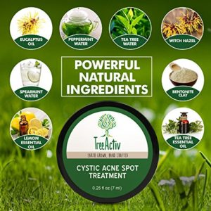 5f68bf006360 300x300 - TreeActiv Cystic Acne Spot Treatment, Best Extra Strength Fast Acting Formula for Clearing Severe Acne from Face and Body, Gentle Enough for Sensitive Skin, Adults, Teens, Men, Women (0.25 Ounce)