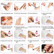 AIMEILI Gel Nail Polish No Wipe Top and Base Coat Set Soak Off UV LED Gel Nail Lacquer – 2 x 10ml