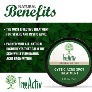 63ec4c8e24b3 300x300 - TreeActiv Cystic Acne Spot Treatment, Best Extra Strength Fast Acting Formula for Clearing Severe Acne from Face and Body, Gentle Enough for Sensitive Skin, Adults, Teens, Men, Women (0.25 Ounce)