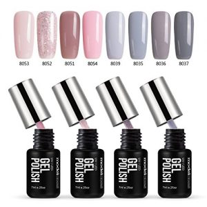 67e58bd4d551 300x300 - Gel Nail Polish Set, 8 tiny bottles, Soak Off Gel Polish, Required UV LED Nail Light Lamp, 0.24 OZ, Modelones