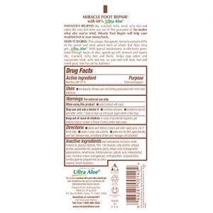 6b93801edd37 300x300 - Miracle of Aloe, Miracle Foot Repair Cream 8 oz – 2 Pack with 60% Pure Organic Aloe Vera Softens Dry Cracked Feet.