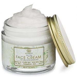 71d90ca19a0f 300x300 - Tea Tree Oil Face Cream - For Oily, Acne Prone Skin 2oz Natural & Organic Facial Moisturizer with 7X Ingredients For Rosacea, Cystic Acne, Blackheads & Redness