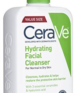 7da910394eae 246x300 - CeraVe Hydrating Facial Cleanser 16 oz for Daily Face Washing, Dry to Normal Skin