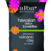 Alba Botanica Hawaiian Detox Towelettes Anti-Pollution Volcanic Clay, 30 Count