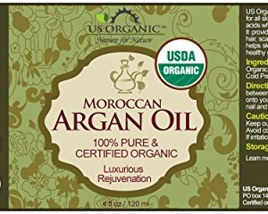 8b3612397632 300x240 - US Organic Moroccan Argan Oil, USDA Certified Organic,100% Pure & Natural, Cold Pressed Virgin, Unrefined, 4 Oz in Amber Glass Bottle with Glass Eye Dropper for Easy Application. Origin_Morocco