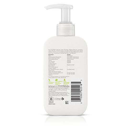 Neutrogena Naturals Fresh Cleansing And Makeup Remover, 6 Fl. Oz, (Pack of 2)