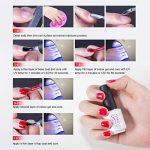 Gel Nail Polish for Nails, Soak Off UV Pink Gel Kit Required Gel Base Top Coat LED Nail Lamp