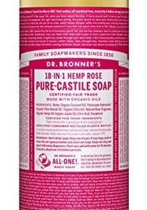 9a4b5d4e8637 210x300 - Dr. Bronner's Pure-Castile Liquid Soap - Rose 32 oz