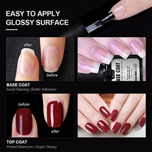 a4a7d331834f 300x300 - Modelones UV LED Soak OFF Top Coat And Base Coat Set for Gel Nail Polish, New Upgraded Formula Long-Lasting and Shiny Finish, 0.33 OZ, 2 PCS