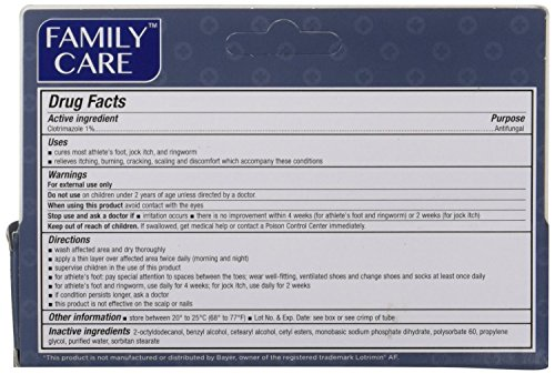 2 Pk. Family Care Clotrimazole Anti-Fungal Cream, 1% USP