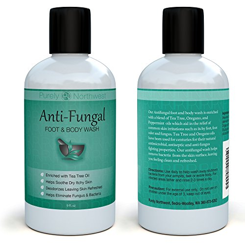 Antifungal Tea Tree Oil Body Wash, Great for Athletes, Foot Care, Body Odor and Toenails. Helps Deodorize- Leaving Skin, Feet and Nails Refreshed and Healthy Looking – 9 oz.