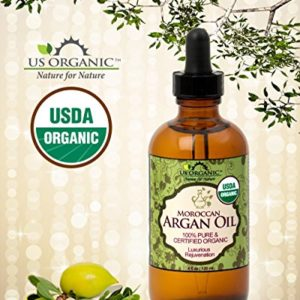 bc617b005b56 300x300 - US Organic Moroccan Argan Oil, USDA Certified Organic,100% Pure & Natural, Cold Pressed Virgin, Unrefined, 4 Oz in Amber Glass Bottle with Glass Eye Dropper for Easy Application. Origin_Morocco