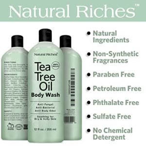 bc937feacc44 300x300 - Antifungal Tea Tree Oil Body Wash Peppermint & Eucalyptus Oil Antibacterial Soap by Natural Riches -12 oz Helps Athletes Foot, Eczema, Ringworm, Toenail Fungus, Jock itch, Body Itch, Body Odor & Acne