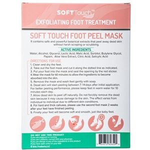 c622eeee294e 300x300 - Soft Touch Foot Peel Mask, Exfoliating Callus Remover (2 Pairs Per Box)