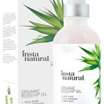 InstaNatural Organic Rosehip Seed Oil – 100% Pure & Unrefined Virgin Oil – Natural Moisturizer for Face, Skin, Hair, Stretch Marks, Scars, Wrinkles & Fine Lines – Omega 6, Vitamin A & C – 4 Oz
