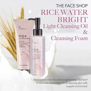 ca6c03f0473c 300x300 - The Face Shop Rice Water Bright Cleansing Foam (150 mL/5.0 Oz) & Light Cleansing Oil (150 mL /5 Oz) Set, Moisturizing And Brightening Care For All Skin Types