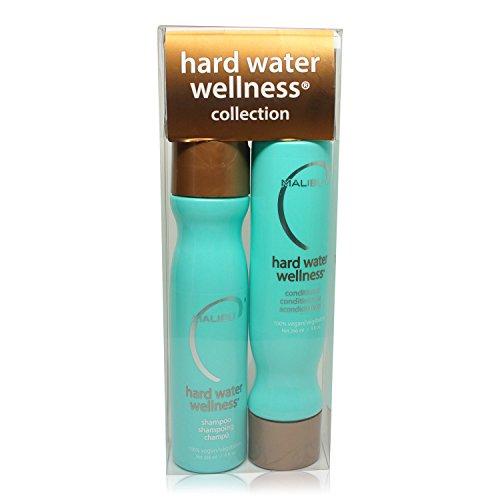 Malibu Hard Water Wellness Treatment Kit, 9 oz Shampoo, 9 oz Conditioner and 0.17 Hard Water Treatment, Package May Vary
