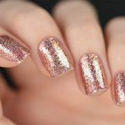 ILNP Juliette Holographic Nail Polish, Rose Gold
