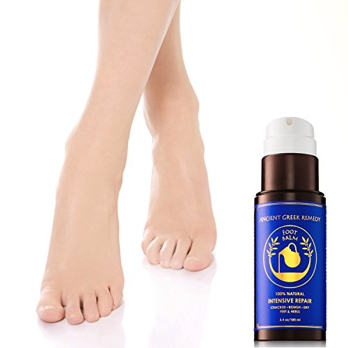 100% Organic Therapy Foot butter Balm treatment to heal, repair, Smooth, soften dry cracked peel callus skin on feet. Natural heels cream Moisturizer for soft and healthy feet care for men and women