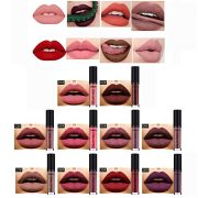 10 Colors Matte Lipstick, Richoose Easy to Coloring Beauty Waterproof Liquid Makeup Lip / Lip Gloss Super Long Lasting With Boxed