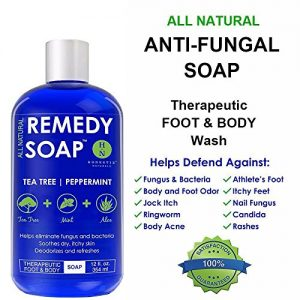 34cd19ae9c25 300x300 - Remedy Antifungal Soap, Helps Wash Away Body Odor, Athlete's Foot, Nail Fungus, Ringworm, Jock Itch, Yeast Infections and Skin Irritations. 100% Natural with Tea Tree Oil, Mint & Aloe 12 oz