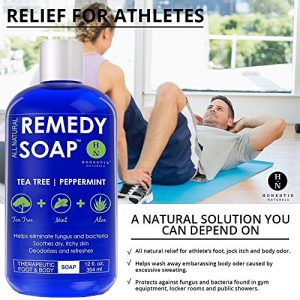3a93cc0c4d30 300x300 - Remedy Antifungal Soap, Helps Wash Away Body Odor, Athlete's Foot, Nail Fungus, Ringworm, Jock Itch, Yeast Infections and Skin Irritations. 100% Natural with Tea Tree Oil, Mint & Aloe 12 oz