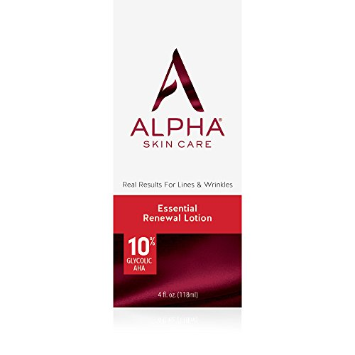 Alpha Skin Care – Essential Renewal Lotion, 10% Glycolic AHA, Real Results for Lines and Wrinkles| Fragrance-Free and Paraben-Free| 4-Ounce (Packaging May Vary)