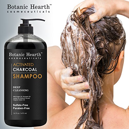 Botanic Hearth Activated Charcoal Shampoo, Sulfate Free – Daily Clarifying and Cleansing Hair Shampoo for Men and Women