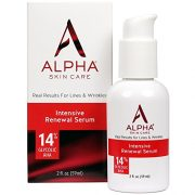 Alpha Skin Care – Intensive Renewal Serum, 14% Glycolic AHA, Real Results for Lines and Wrinkles  Fragrance-Free and Paraben-Free  2-Ounce