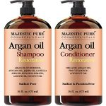 Majestic Pure Argan Oil Shampoo & Conditioner Set, Sulfate Free, Vitamin Enriched, Volumizing & Gentle Hair Restoration Formula for Daily Use, For Men and Women, – 16 fl oz each
