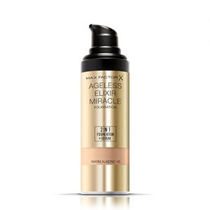 a7c52cd763e4 300x300 - Max Factor Ageless Elixir 2 in 1 Foundation Plus Serum SPF 15-45, Warm Almond, 1 Ounce