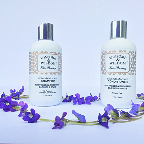 #BlondeMoment – Purple Shampoo for Blonde Hair – Blonde Shampoo – 8 Oz. Purple Toning Shampoo – Winsome & Wisdom – Paraben Free Toner Shampoo – Color Safe-UV Protectant-Cruelty Free Hair Products