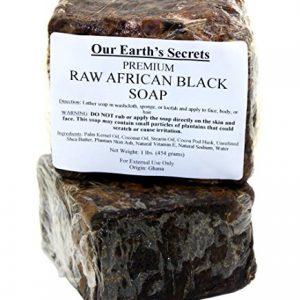 c9090d010b1a 300x300 - Our Earth's Secrets Raw African Black Soap, 1 lb.