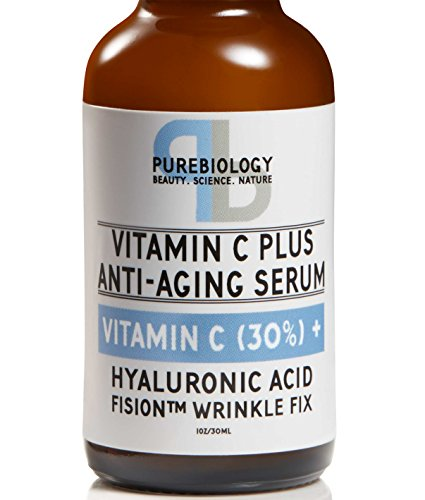 """C Plus"" Highest Concentrate Vitamin C Serum (30%) with Hyaluronic Acid & Breakthrough Anti Wrinkle Complex – Natural, Complete Anti Aging Serum For Face & Eyes (1 oz.)"
