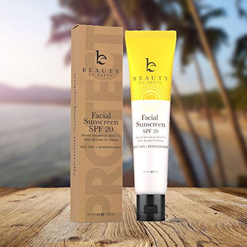 Facial Sunscreen SPF 20; Water Resistant Mineral Sunblock Cream for Daily Use Matte Face Moisturizer Lotion for Men, Women, Kids & Babies, Natural & Organic Ingredients Best Oily, Dry & Sensitive Skin